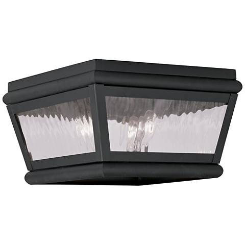 "Exeter 8"" Wide Charcoal Outdoor Ceiling Light"