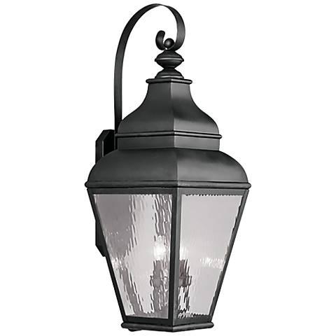"Exeter 38"" High Black Outdoor Wall Light"