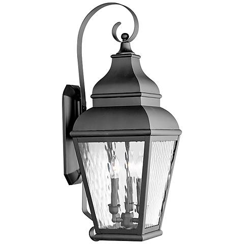 "Exeter 29"" High Black Outdoor Wall Light"