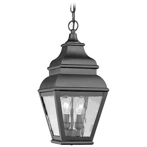 "Exeter 19"" High Black Outdoor Hanging Light"