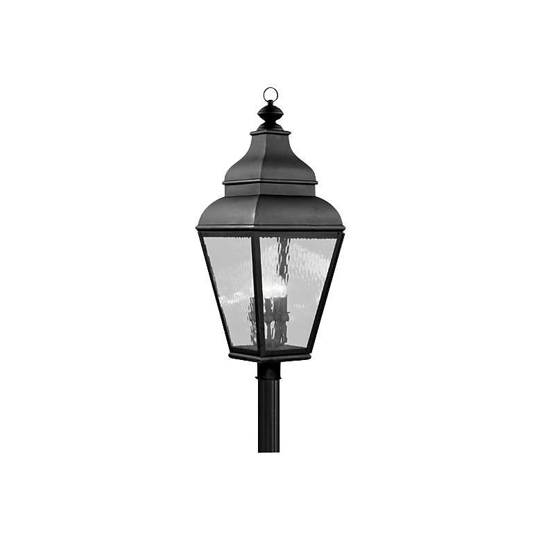"Exeter 37 1/2"" High Black Outdoor Post Light"