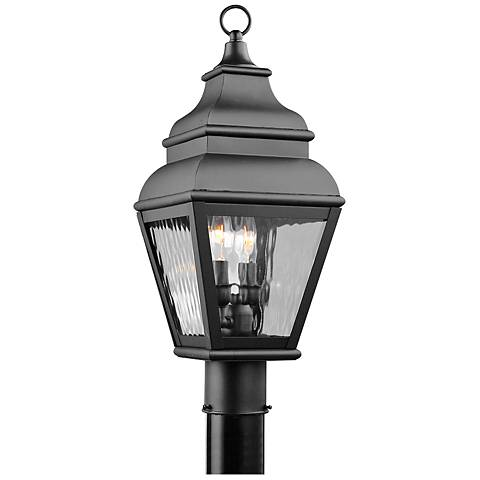 "Exeter 20 1/2"" High Black Outdoor Post Light"