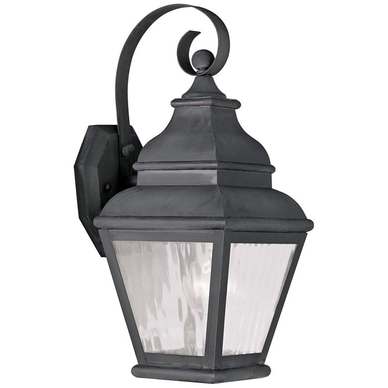 """Exeter 14 1/2"""" High Charcoal Outdoor Wall Light"""