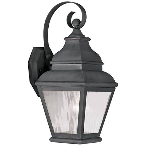 "Exeter 14 1/2"" High Charcoal Outdoor Wall Light"