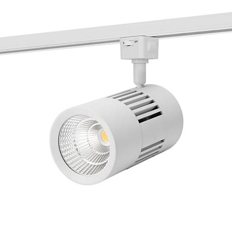 Leland White 12W LED Grooved Track Head for Juno Systems