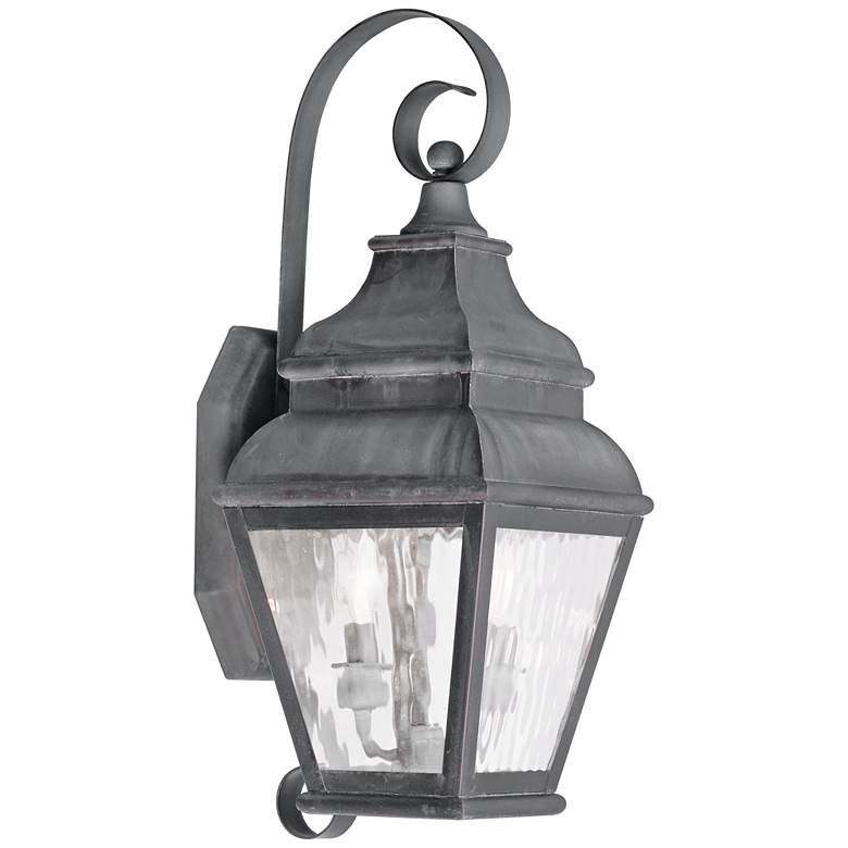 """Exeter 21 1/2"""" High Charcoal Outdoor Wall Light"""