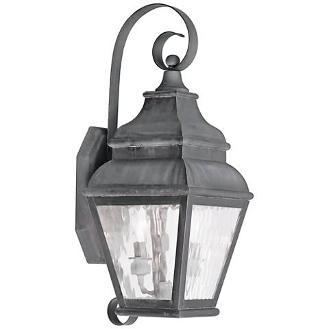 "Exeter 21 1/2"" High Charcoal Outdoor Wall Light"