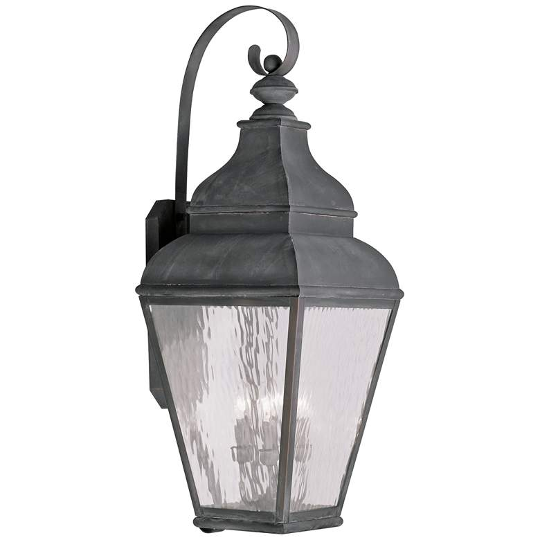 "Exeter 38"" High Vintage Pewter Outdoor Wall Light"