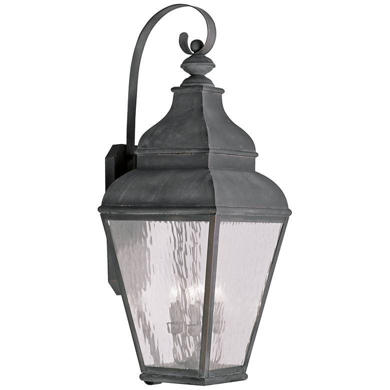 """Exeter 38"""" High Vintage Pewter Outdoor Wall Light"""