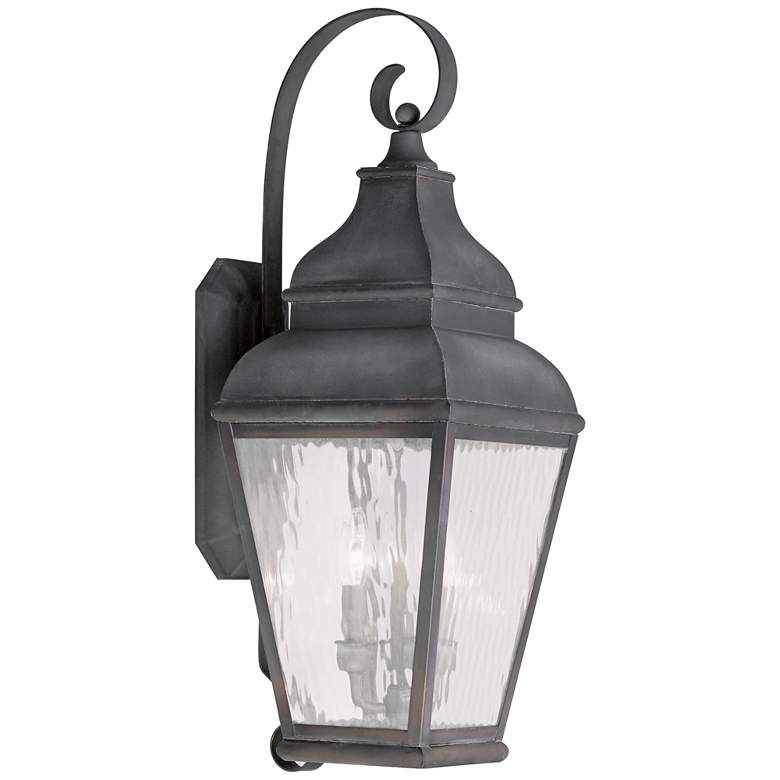 """Exeter 29"""" High Charcoal Outdoor Wall Light"""