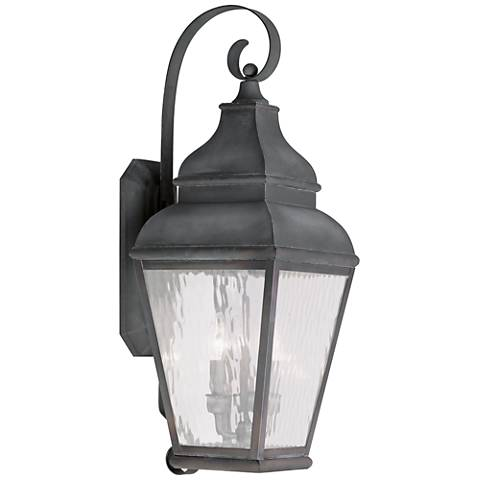 "Exeter 29"" High Charcoal Outdoor Wall Light"