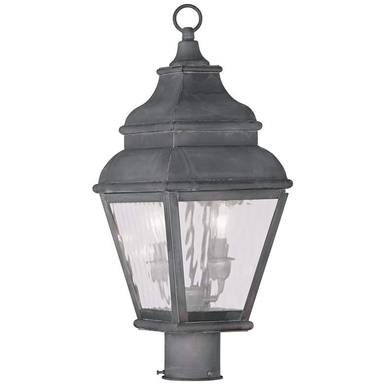 """Exeter 20 1/2"""" High Charcoal Outdoor Post Light"""