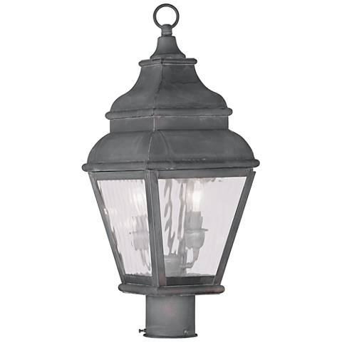 "Exeter 20 1/2"" High Charcoal Outdoor Post Light"