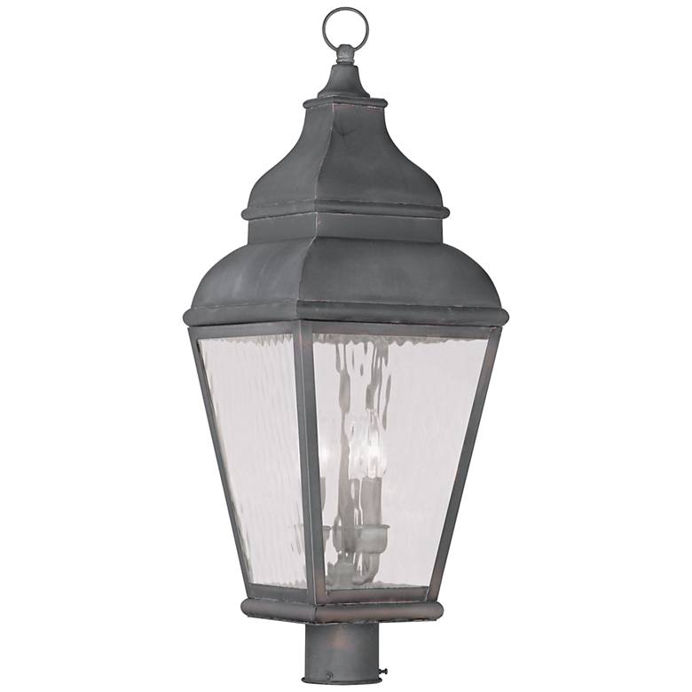 """Exeter 29 1/2"""" High Charcoal Outdoor Post Light"""