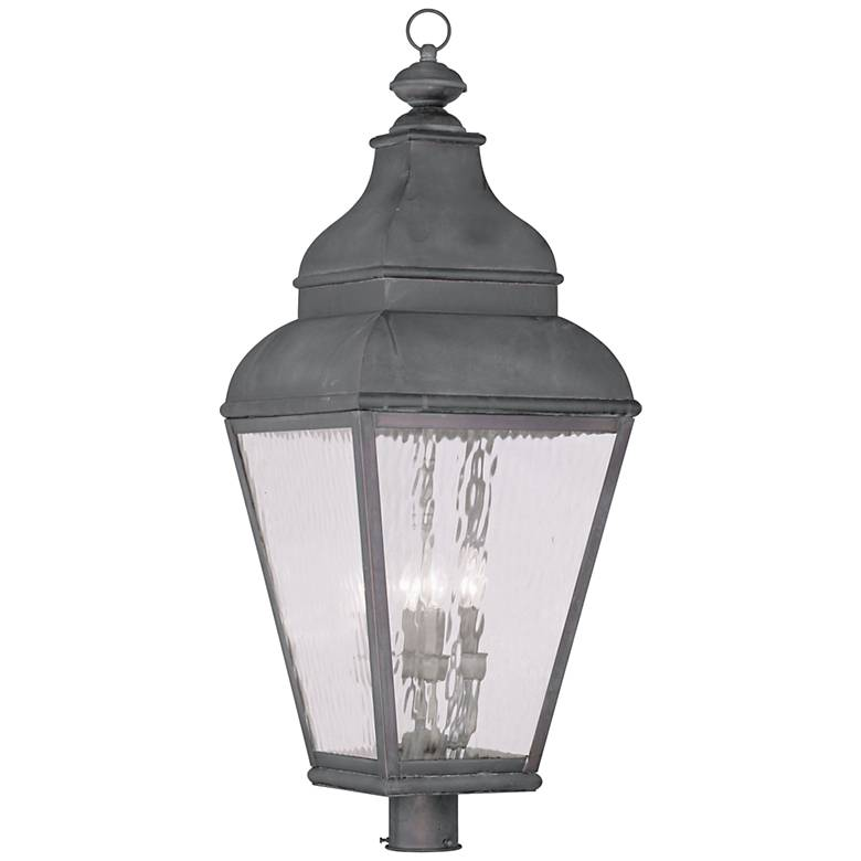 """Exeter 37 1/2"""" High Charcoal Outdoor Post Light"""