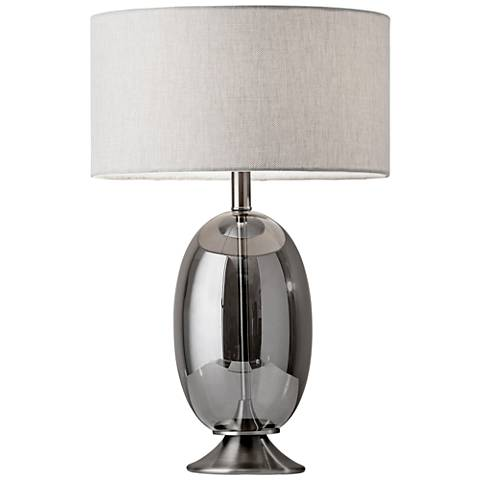 Bailey Brushed Steel Accent Table Lamp