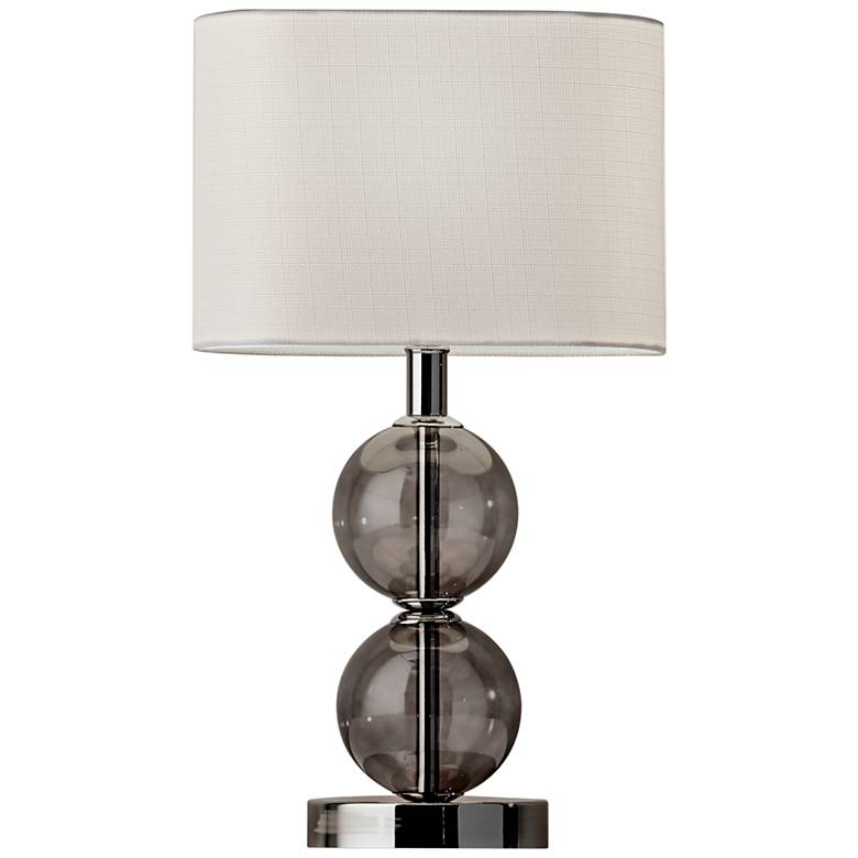 "Donna 17 1/2"" High Polished Nickel Accent Table Lamp"
