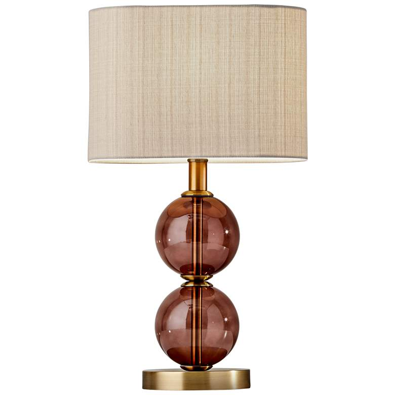 """Donna 17 1/2"""" High Antique Brass Accent Table Lamp"""