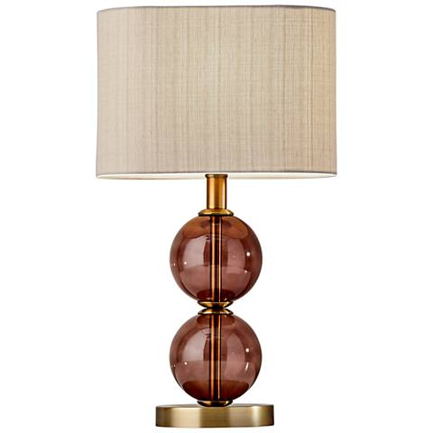 "Donna 17 1/2"" High Antique Brass Accent Table Lamp"