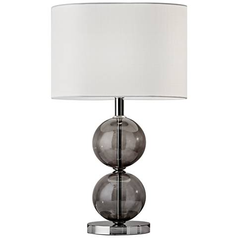 Donna Polished Nickel Tall Table Lamp