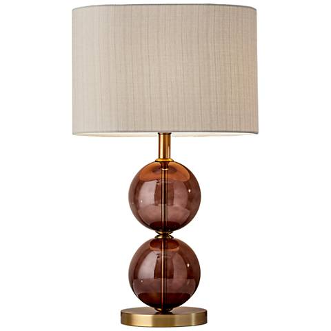 Donna Antique Brass Tall Table Lamp
