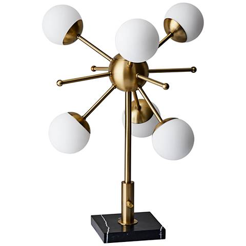 Doppler Antique Brass LED Accent Table Lamp