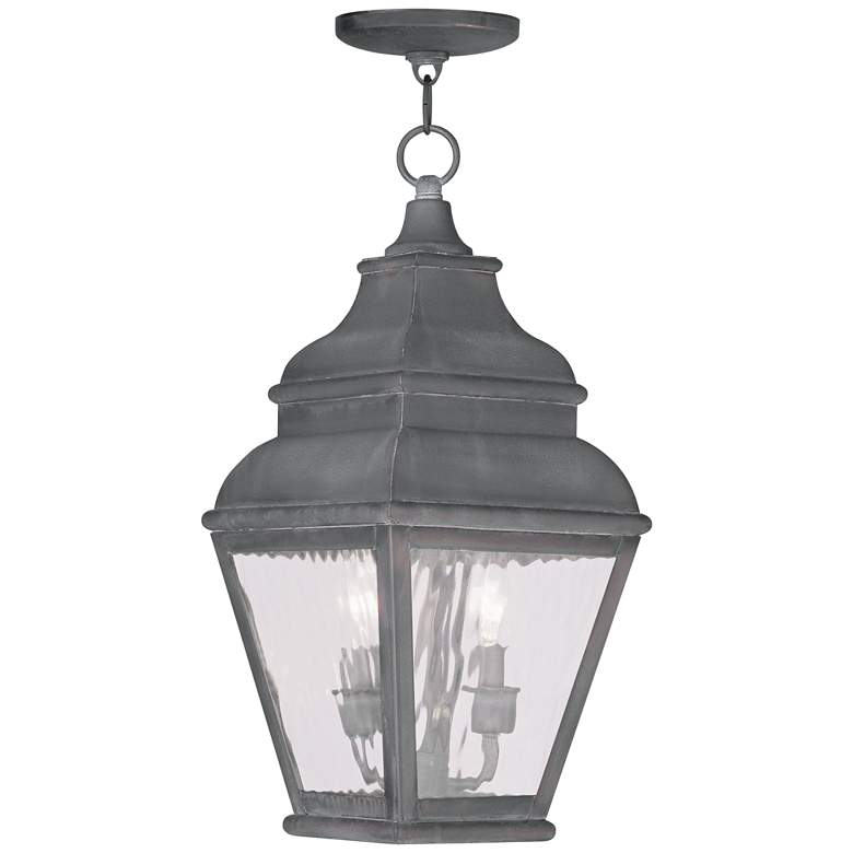 """Exeter 19"""" High Charcoal Outdoor Hanging Light"""