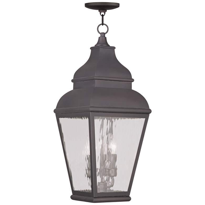 """Exeter 25"""" High Charcoal Outdoor Hanging Light"""