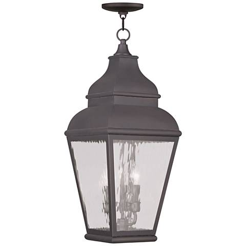"Exeter 25"" High Charcoal Outdoor Hanging Light"