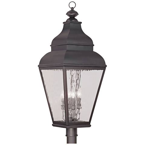 "Exeter 37 1/2"" High Charcoal Outdoor Post Light"