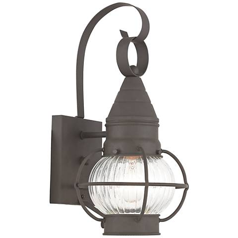 "Newburyport 13 3/4"" High Bronze Outdoor Wall Light"