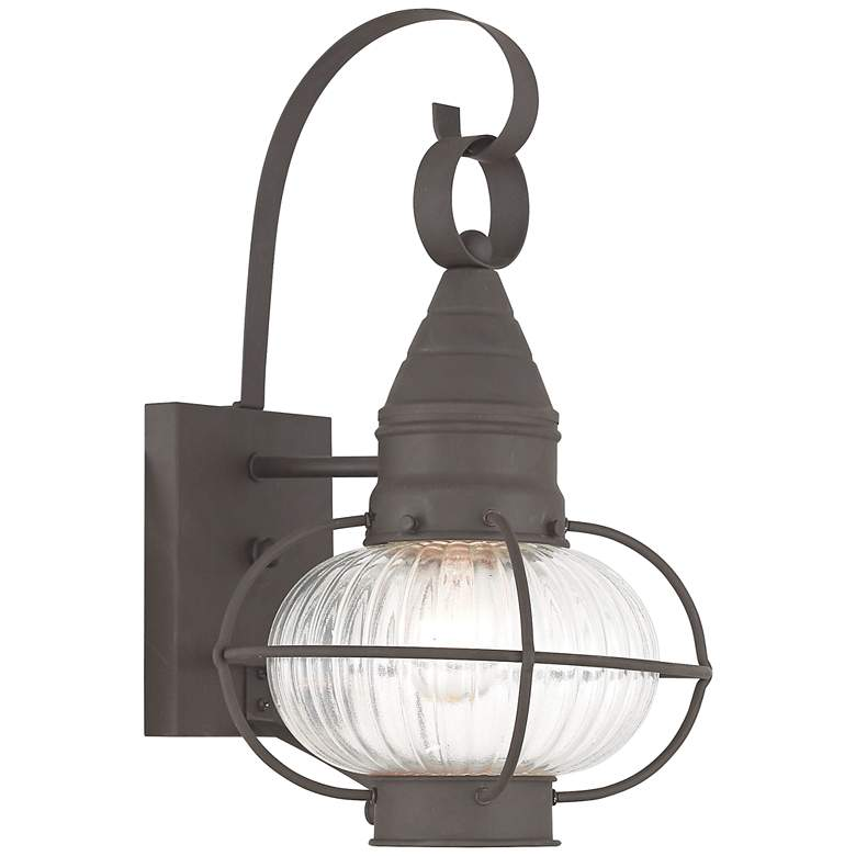 "Newburyport 14 3/4"" High Bronze Outdoor Wall Light"