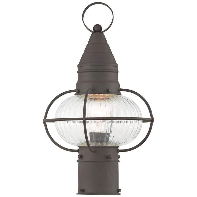 """Newburyport 15"""" High Bronze Outdoor Post Light"""