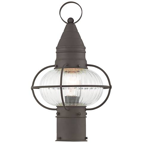 "Newburyport 15"" High Bronze Outdoor Post Light"