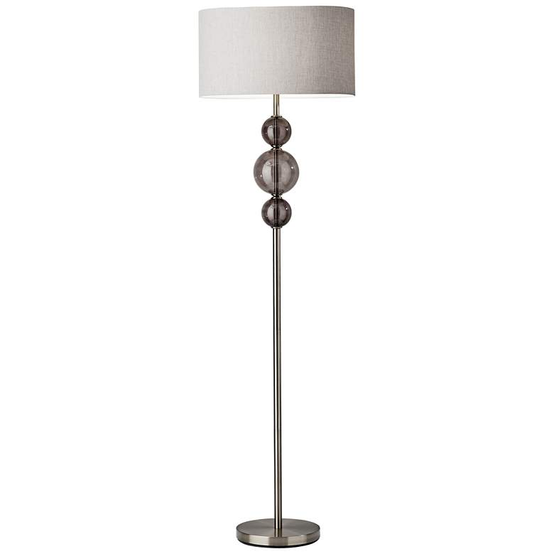 Donna Polished Nickel Floor Lamp