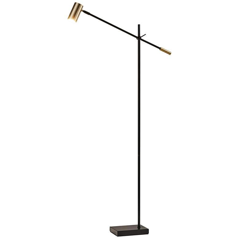 Collette Black and Brass Adjustable LED Floor Lamp