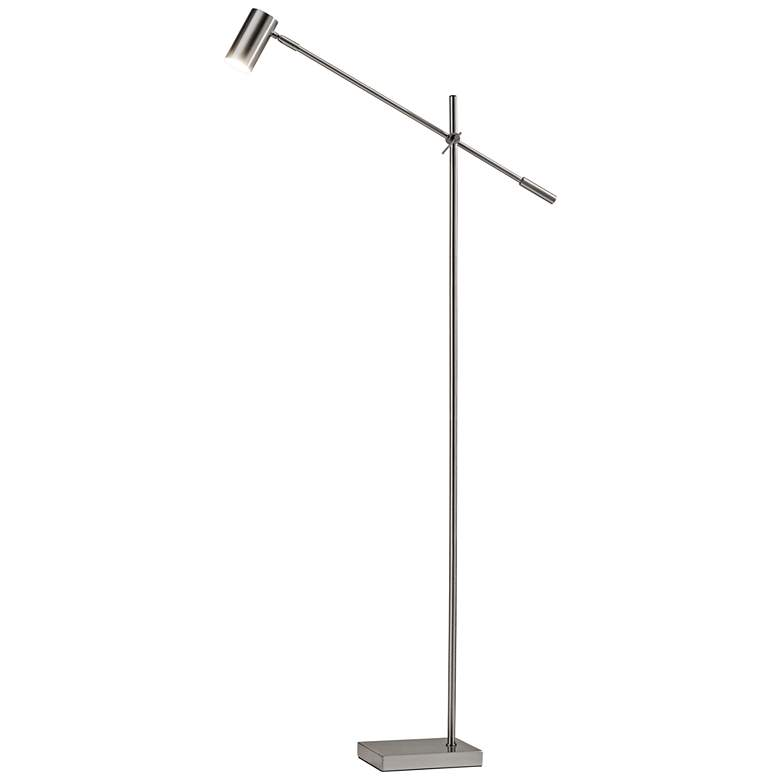 Collette Brushed Steel Adjustable LED Floor Lamp