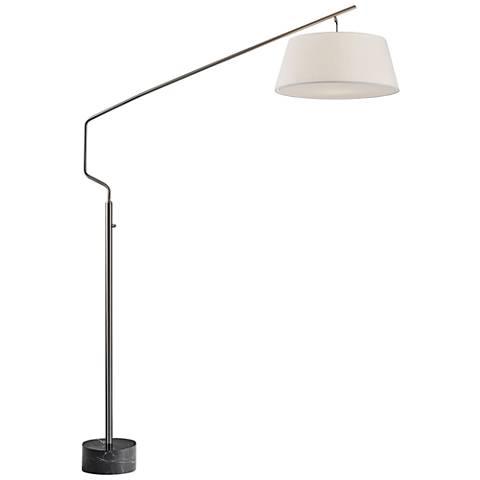 Stanton Brushed Steel Arc Floor Lamp