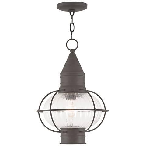 """Newburyport 16 3/4"""" High Bronze Outdoor Hanging Light"""