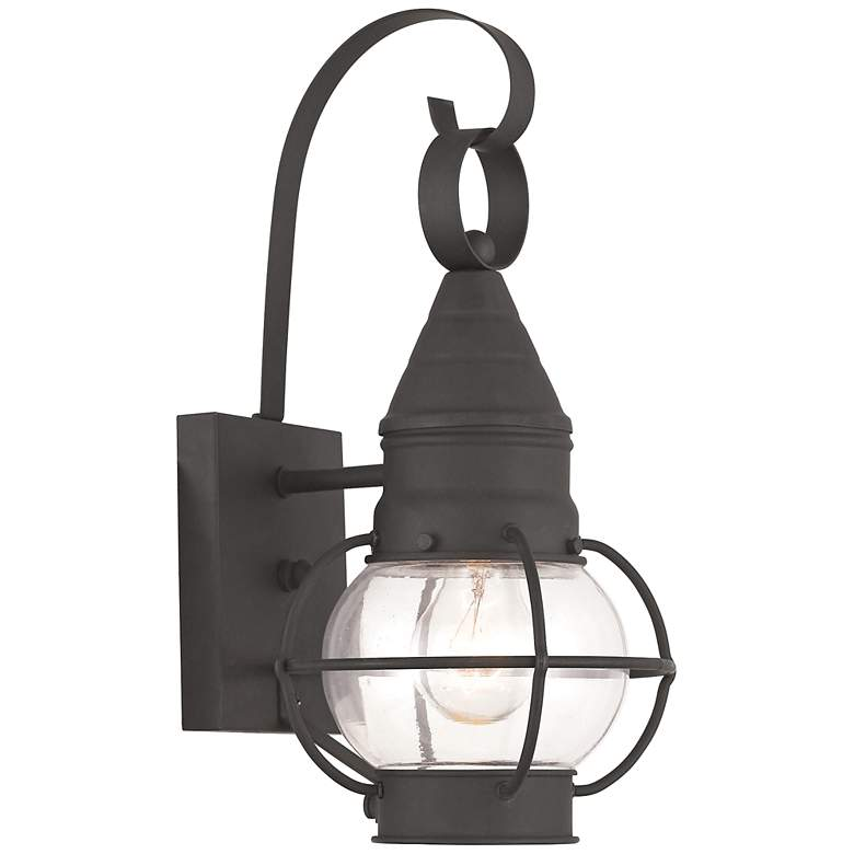 "Newburyport 13 3/4"" High Black Outdoor Wall Light"