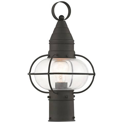 """Newburyport 15"""" High Black Outdoor Post Light"""