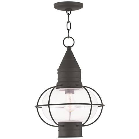 """Newburyport 16 3/4"""" High Black Outdoor Hanging Light"""
