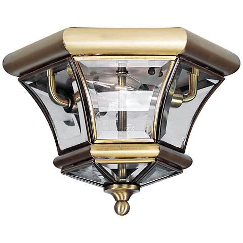 "Monterey 10 1/2"" Wide Brass Outdoor Ceiling Light"
