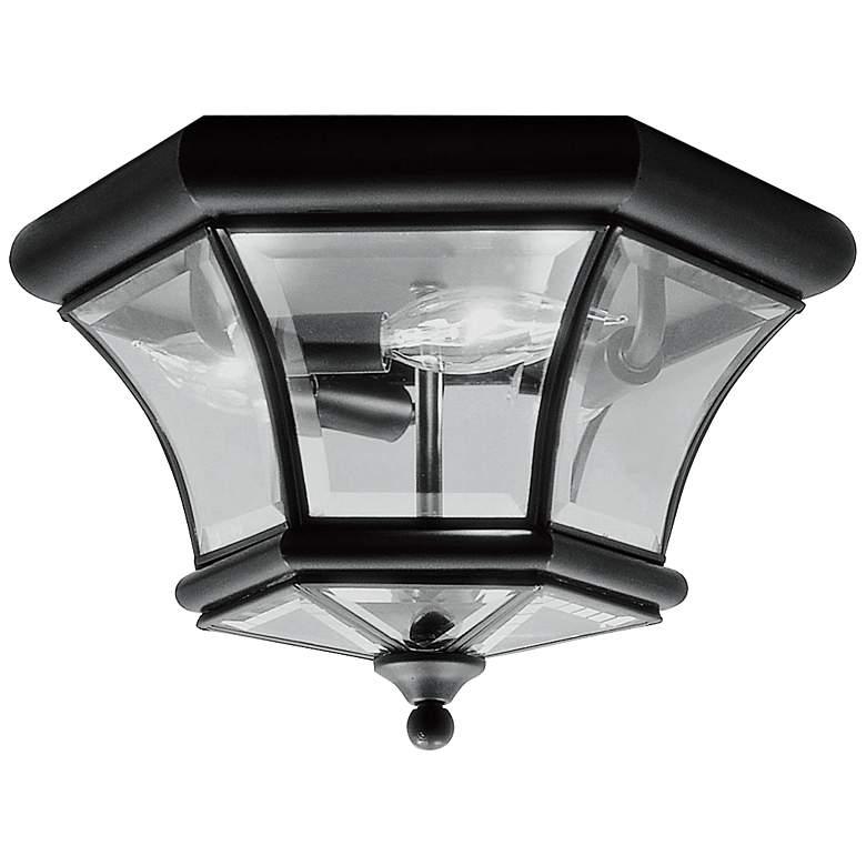 """Monterey 12 1/2"""" Wide Black Outdoor Ceiling Light"""