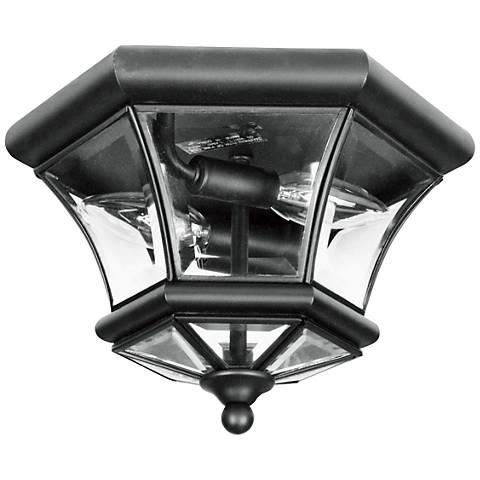 """Monterey 10 1/2"""" Wide Black Outdoor Ceiling Light"""