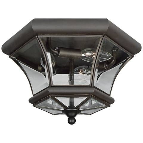 "Monterey 12 1/2""W Bronze Outdoor Ceiling Light"