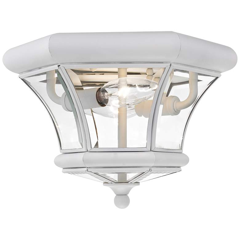 """Monterey 10 1/2"""" Wide White Outdoor Ceiling Light"""