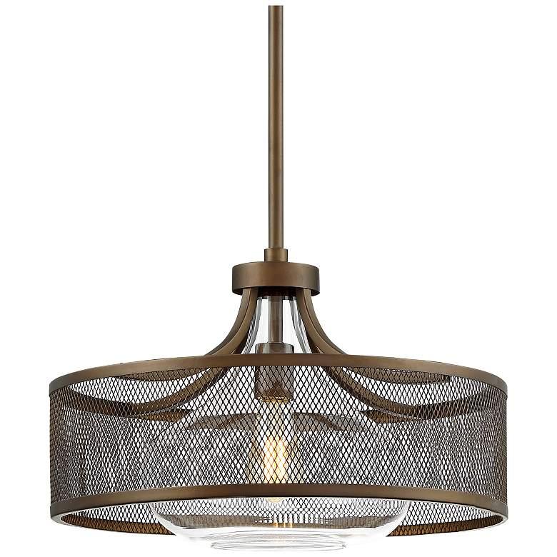 "Luis 18"" Wide Oil-Rubbed Bronze LED Pendant Light"