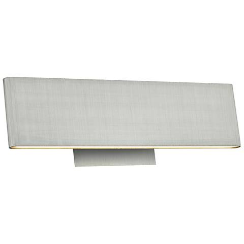 "Slim 12"" Wide Brushed Aluminum Up-Down LED Bath Light"