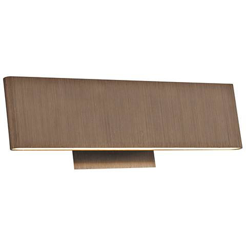 "Slim 12"" Wide Brushed Bronze Up-Down LED Bath Light"